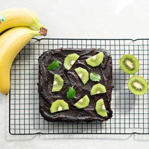 Czekoladowo-bananowe brownie