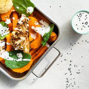 Pieczone, miodowe warzywa